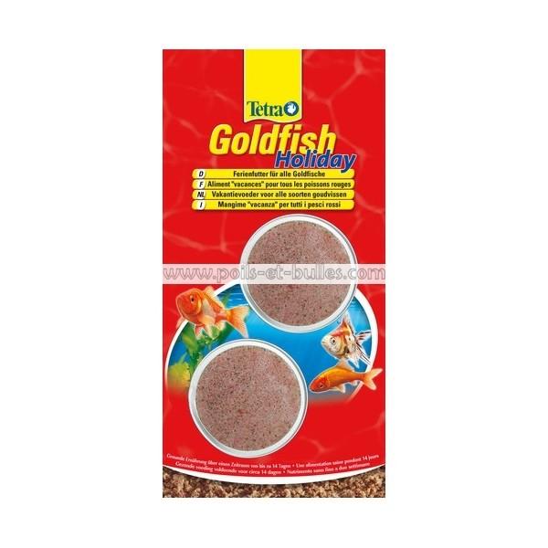 Tetra goldfish holiday nourriture vacances pour poisson for Poisson tetra rouge