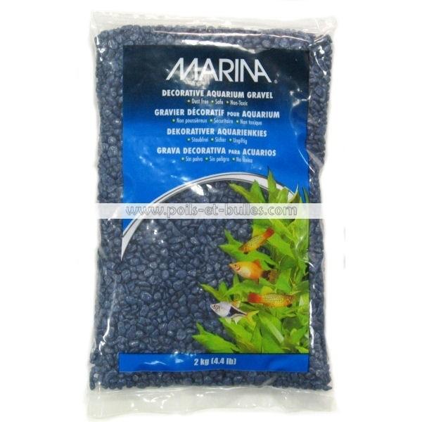 Marina gravier deco bleu marine pour aquarium - Gravier pour aquarium ...