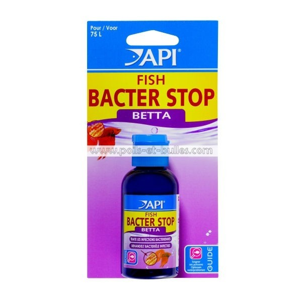 Api fish bacter stop betta soin pour poisson combattant for Acheter poisson combattant