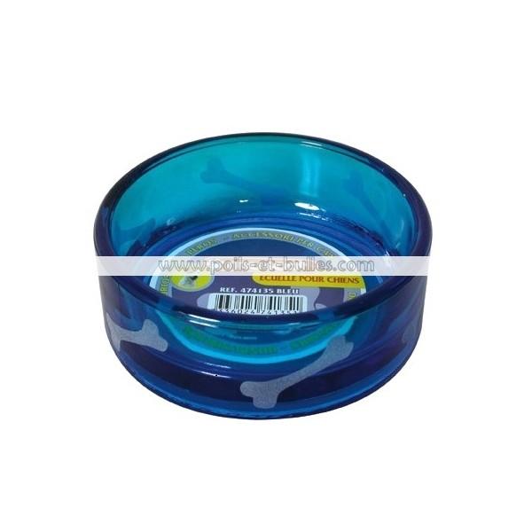 zolux ecuelle verre translucide bleue motif os. Black Bedroom Furniture Sets. Home Design Ideas