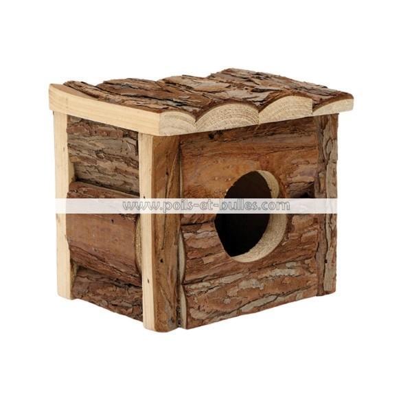 Cabane En Bois Pour Chat : > Habitat rongeurs > Abris rongeurs > LIVING WORLD Cabane Bois S