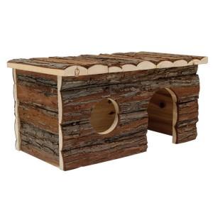 cabane en bois lapin nain. Black Bedroom Furniture Sets. Home Design Ideas